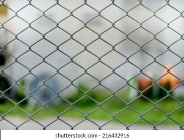 the chain link fencing