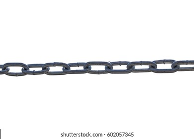 chain link isolate on white background
