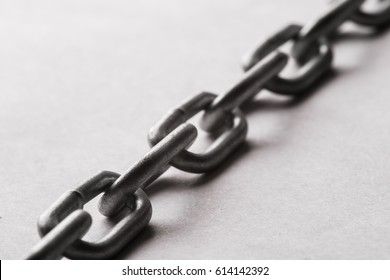Chain links closeup