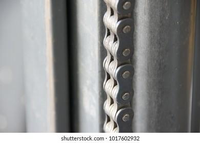 Chain on Industrial Machine.