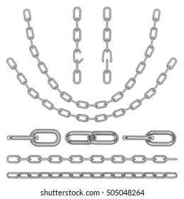chain on white background, 3D rendering