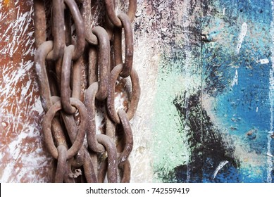 chain rusty, color, art - Shutterstock ID 742559419