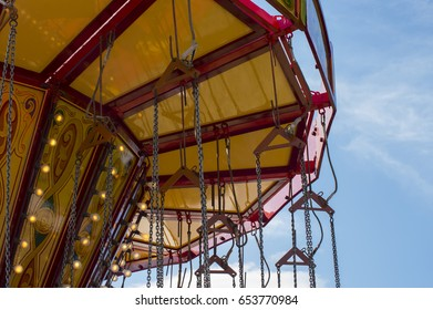 Chain swing carousel ride roof detail