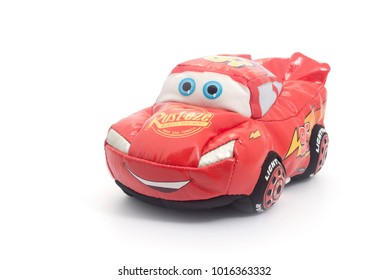 Chainat Province, Thailand, February 1 , 2018. illustrative editorial Lighting Mcqueen toy car