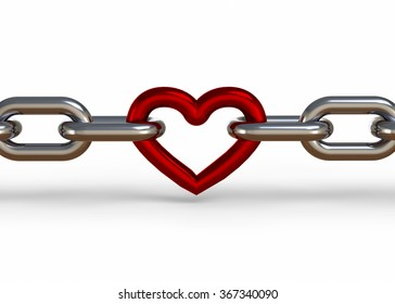 Chained Heart - 3D