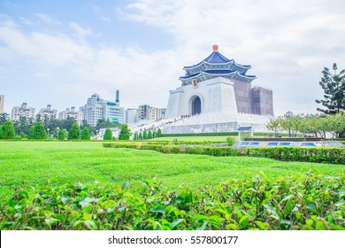 The Chaing Kai Shek Memorial Hall in Taipei, Taiwan or CKS. The Chinese text meaning is Chaing Kai Shek Memorial Hall. The Famous Asia Landmark
