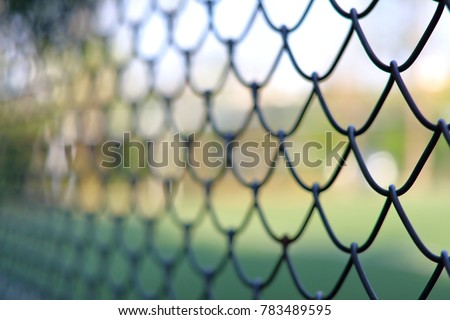 chainlink fencing cyclone fence hurricane fence stock photo edit