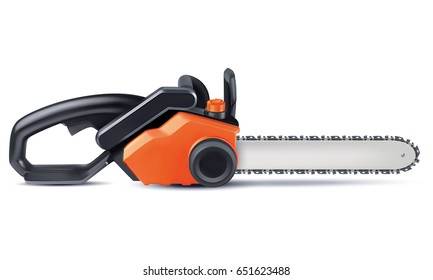 Chainsaw isolated on white. 3d illustration