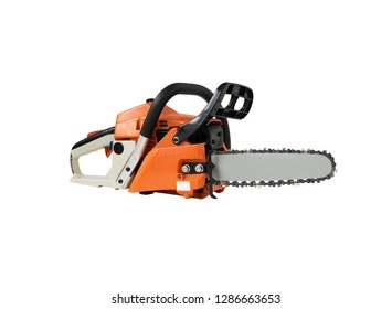 Chainsaw on isolated white background