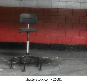 Chair in an abandoned factory.