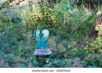 chair in autumn green