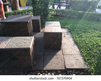Chair from blocks