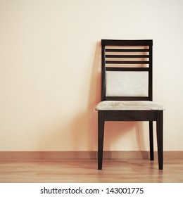 Chair in the corner of room