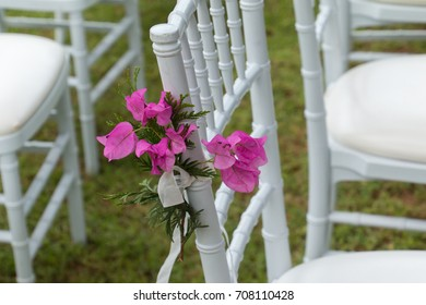 Chair decoration for a wedding