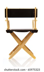 chair from director or stage manager isolated over white
