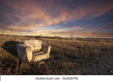 Chair in a field