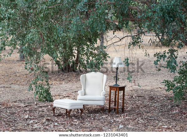 Incredible Chair Footstool Side Table Lamp Outdoor Stock Photo Edit Pdpeps Interior Chair Design Pdpepsorg