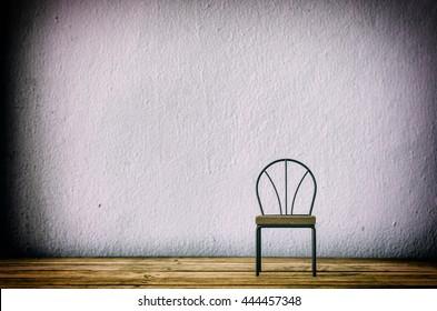 chair iron furniture on wood
