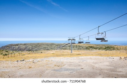 Chair lift during summer,