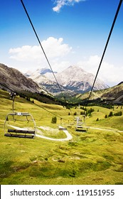 Chair lift in Montgenevre - France