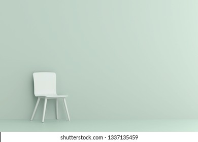 chair in living room. Minimal style concept.