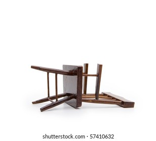 Chair lying, isolated on white.