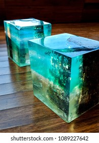 A chair made of old wood and resin