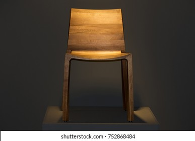A chair made of wood