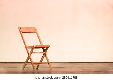 chair on theatre stage