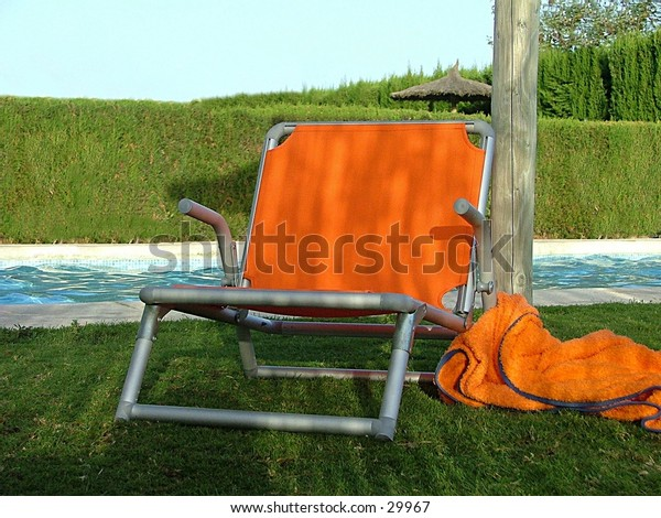chair at poolside I