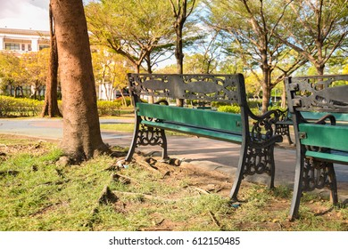 Chair in public park
