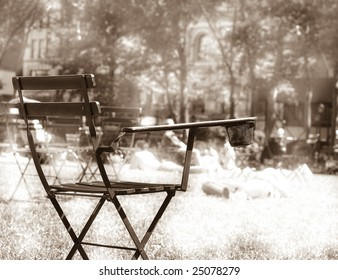 Chair for Resting in Bryant Park