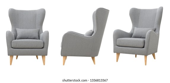 Chair in the Scandinavian style, various foreshortening