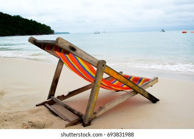 chair and sea
