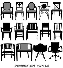 Chair Set Black