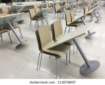 Chair and Table in Canteen on Clean Up Time