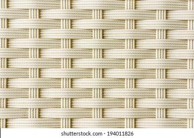 chair white  basket weave pattern
