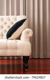 Chair-Fabric arm chair, classical stylish armchair isolated