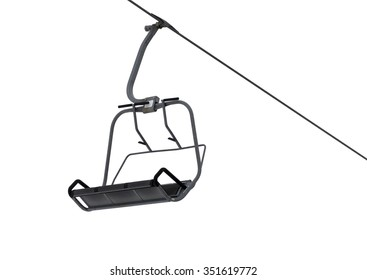 Chair-lift isolated on white background with copy space