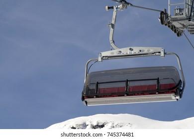 Chairlift. Kleine Scheidegg area, Grindelwald, Berner Oberland, Switzerland.