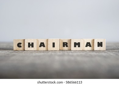 CHAIRMAN word made with building blocks
