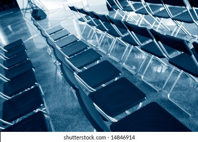 Chairs in an audience