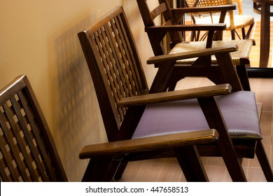 Chairs in cafe