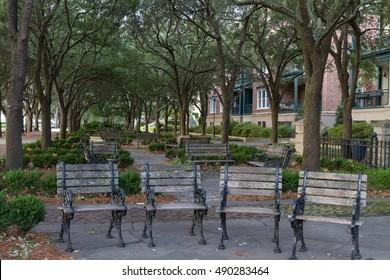 Chairs at  Charleston Waterfront Park