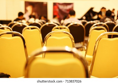 The chairs in classroom, Background blurry