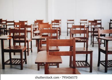 Chairs in classroom , education , lecture
