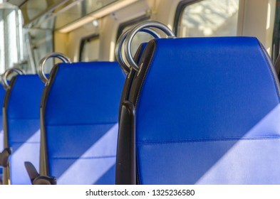 Chairs at the compartment of a dutch train.