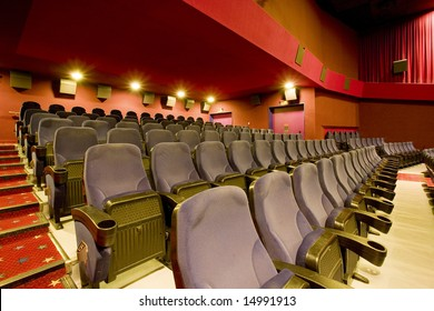 chairs  in the empty cinema