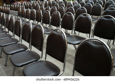 chairs in empty corporate conference room before business meeting