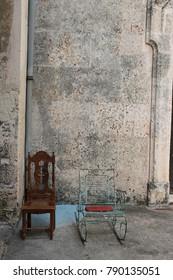 Chairs in Havana, Cuba